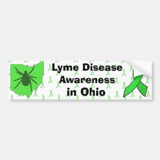 Lyme Krankheits-Bewusstsein in Ohio-Autoaufkleber Autoaufkleber
