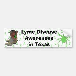 Lyme Krankheits-Bewusstsein in Texas-Autoaufkleber Autoaufkleber