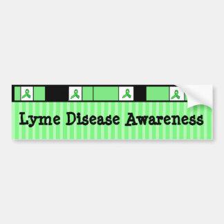 Lyme Krankheits-Bewusstseins-Band-Autoaufkleber Autoaufkleber