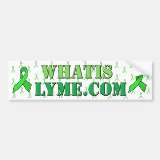 Lyme Krankheits-Bewusstseins-weißer grüner Autoaufkleber