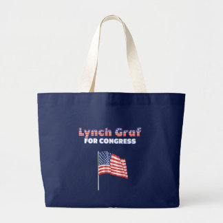 LynchGraf für Kongress-patriotische amerikanische Tragetaschen