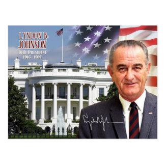 Lyndon B. Johnson - 36. Präsident der US Postkarte