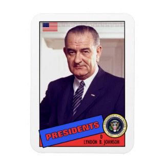 Lyndon B. Johnson-Baseballkarte Eckiger Magnet