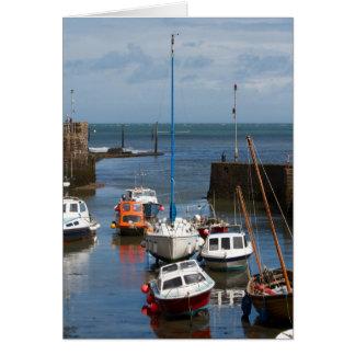 Lynmouth Hafen-Bootskarte Grußkarte