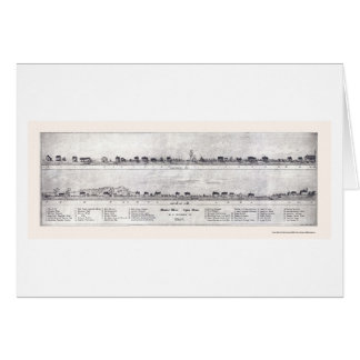 Lynn, panoramische Karte MAs - 1820