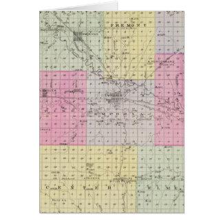 Lyon County, Hartford, Hortonburg, Kansas Karte