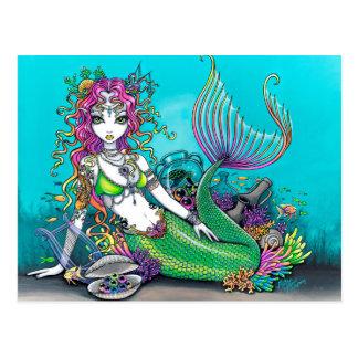Lyra gotische Meerjungfrau Postkarte