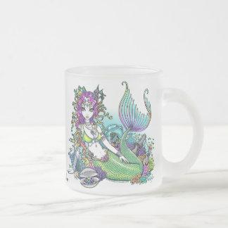 """""""Lyra"""" tropische Meerjungfrau-Kunst-eisige Mattglastasse"""