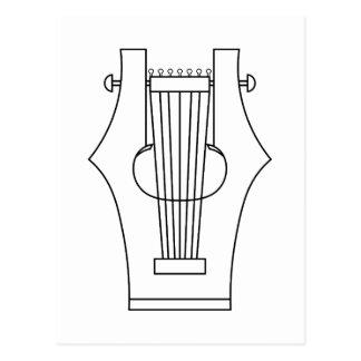 Lyre (lyra) - altgriechisches Instrument Postkarte