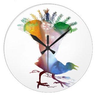 Lyrebird Große Wanduhr