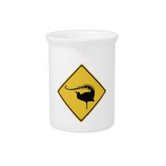 Lyrebird-Überfahrt, handeln Warnzeichen, Krug