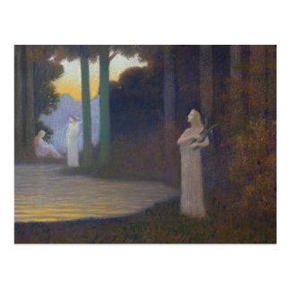 Lyricism im Wald, 1910 Postkarte