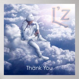 """L'z """"danken Ihnen"""" 24"""" x 24"""" Plakat"""