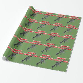M4 Gewehre, frohe Weihnacht-Packpapier Geschenkpapier