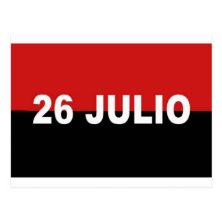 M-26-7 Flagge - De Julio Bandera Del Movimiento 26 Postkarte