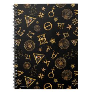 M.A.C.U.S.A. Magische Symbole und Wappen-Muster Notizblock
