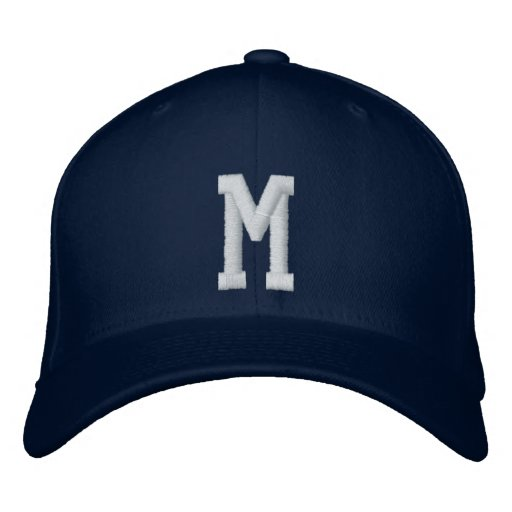 M-Buchstabe Baseballkappe