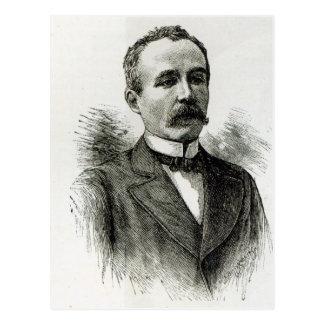 """M. Clemenceau, """"von der Freizeit-Stunde"""", 1891 Postkarte"""