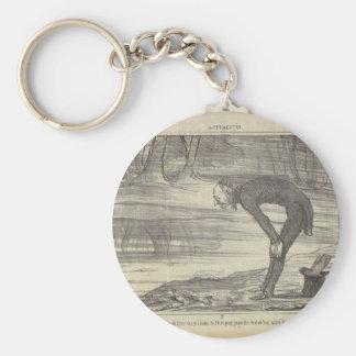 M. Coste durch Honore Daumier Schlüsselanhänger
