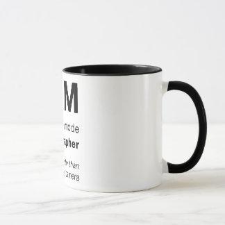 M = intelligenter als eine Kamera Tasse