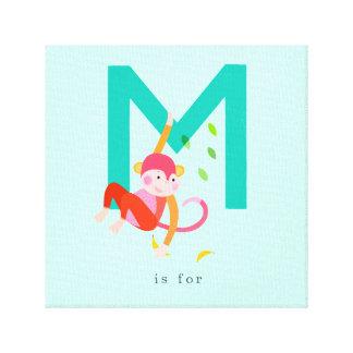 M ist für… leinwanddruck