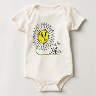 M ist für Mia Gänseblümchen Baby Strampler