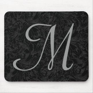 M:: Monogramm M elegantes Mousepad - Anfangsbuchst