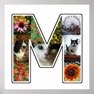 M-Monogramm schaffen Ihre eigene das 9 Poster