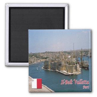 M.Ü. - Malta - IL schnallen Sie Valletta um - Quadratischer Magnet