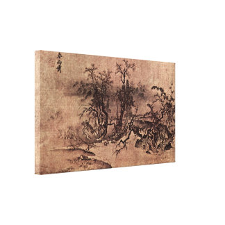 MA Lin - der Geruch des Frühlingsregens Galerie Falt Leinwand