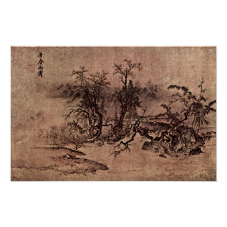 MA Lin - der Geruch des Frühlingsregens Plakatdruck