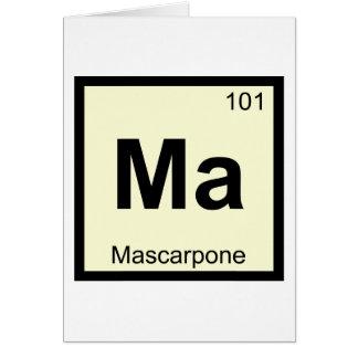 MA - Mascarpone Chemie-Periodensystem-Symbol Karte