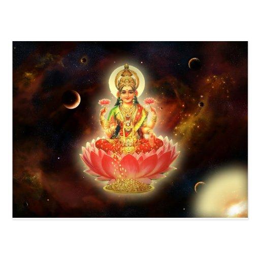Maa Maha Lakshmi Devi Laxmi Göttin des Reichtums Postkarten