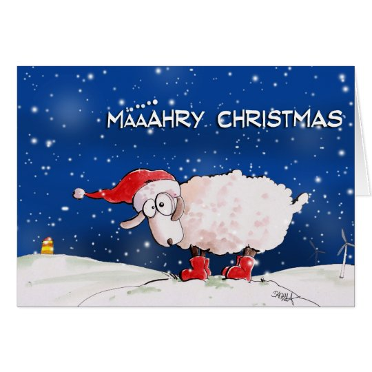 Määähry Christmas Karte