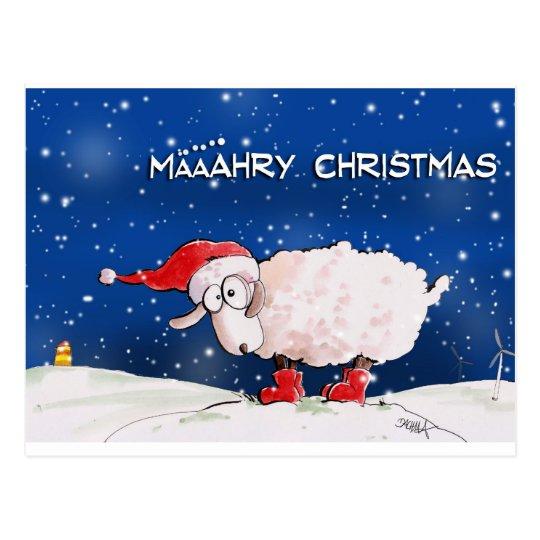 Määähry Christmas Postkarte