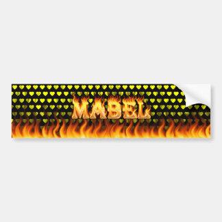 Mabel wirkliches Feuer und Autoaufkleber