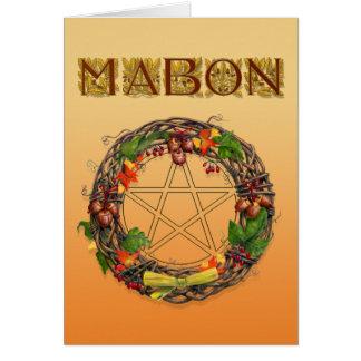 Mabon Kranz mit Eichen-Buchstaben Karte