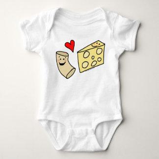 Mac-Liebe-Käse, lustiges niedliches Makkaroni + Baby Strampler