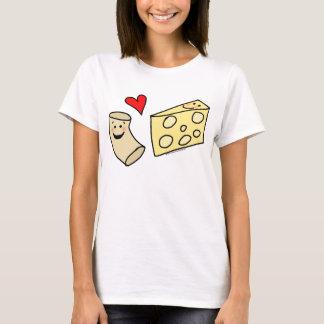 Mac-Liebe-Käse, lustiges niedliches Makkaroni + T-Shirt