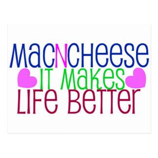 Mac-u. Käse-Leben Postkarte