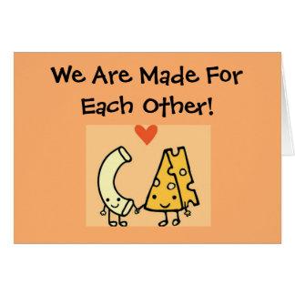 Mac u. Käse - niedliche Valentinstag-Karte Karte