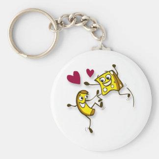 Mac und Käse der Liebe I Standard Runder Schlüsselanhänger
