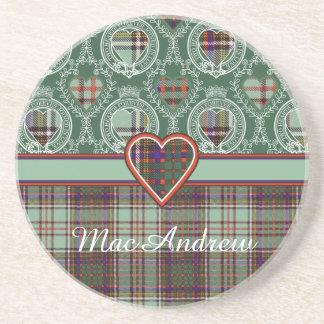 MacAndrew Clan karierter schottischer Kilt Tartan Sandstein Untersetzer
