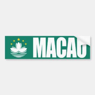 Macao-Flagge Autoaufkleber