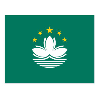 Macao-Flagge Postkarte