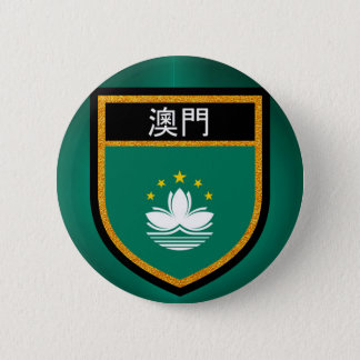Macao-Flagge Runder Button 5,1 Cm