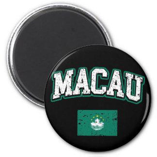 Macao-Flagge Runder Magnet 5,7 Cm