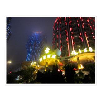 Macao-Kasinolichter Postkarte