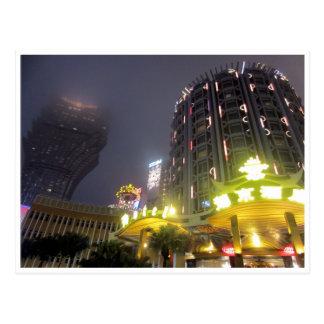 Macao-Kasinonächte Postkarte