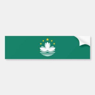 Macao-/Macao-Flagge. China/Chinese Autoaufkleber